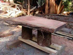 Redwood Natural Edge Slabs for Sale - Santa Cruz