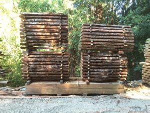 Santa Cruz Natural Edge Redwood Slabs