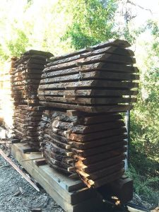 Santa Cruz Natural Edge Redwood Slabs